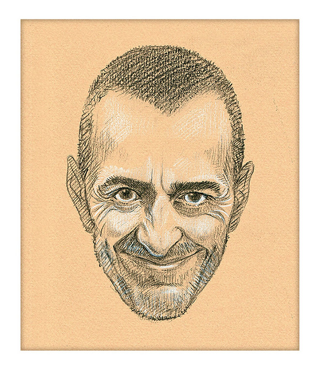 Michel Roux Jr. Portrait by Mr Sketchum
