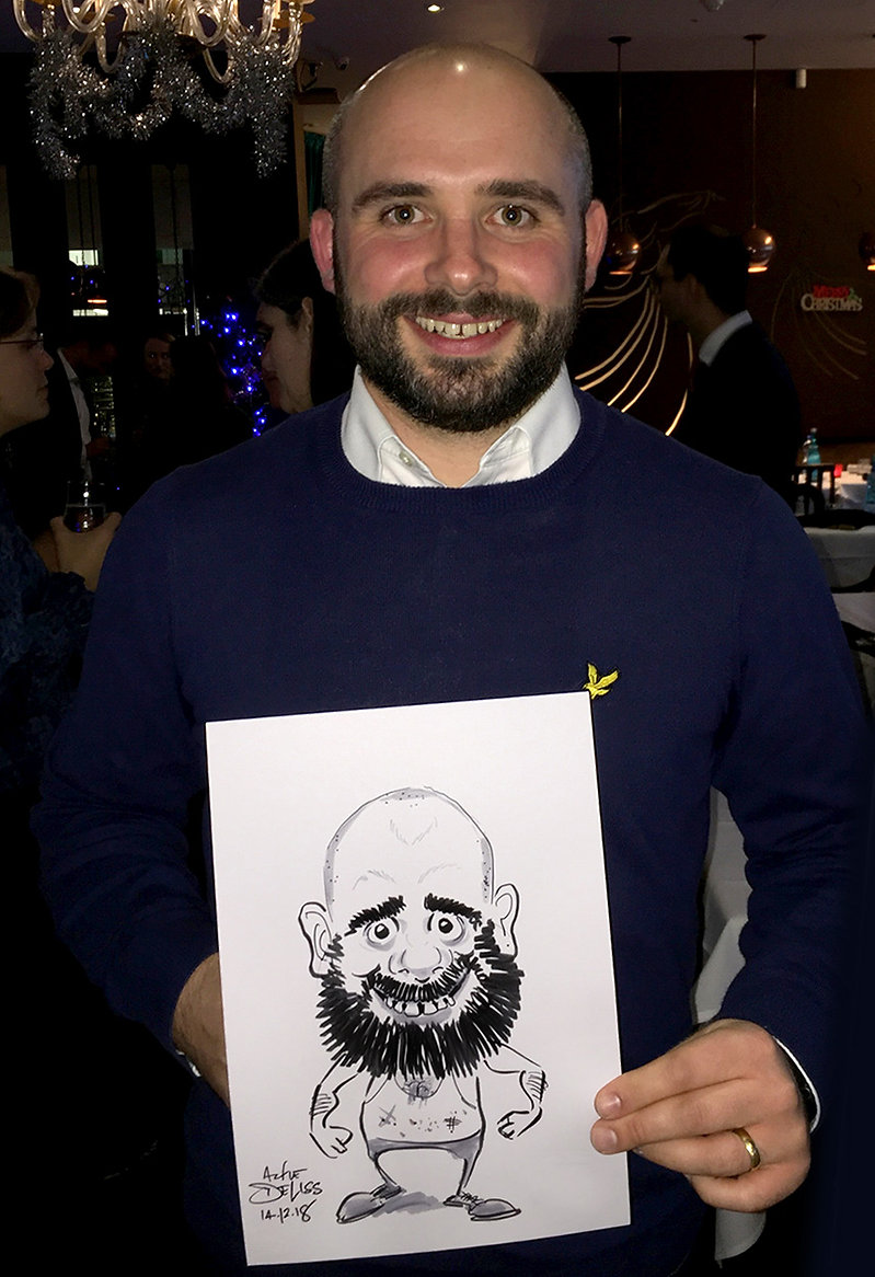 Xmas & birthday party entertainment & caricatures in the City of London