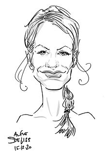 Team Party Caricatures in West London
