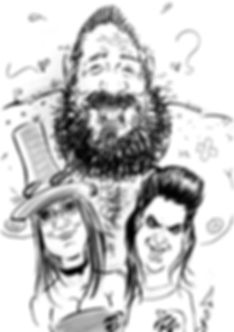 Party Caricature at the Groucho Club, London