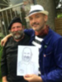 Dick Strawbridge MBE & Alfie Deliss London Caricaturist