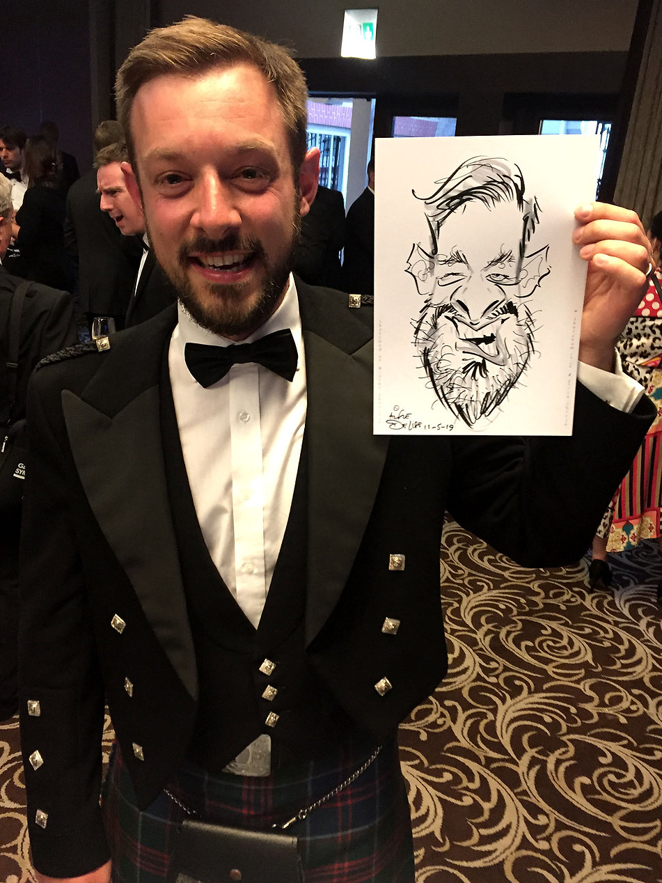 corporate party entertainment in london at an awards dinner