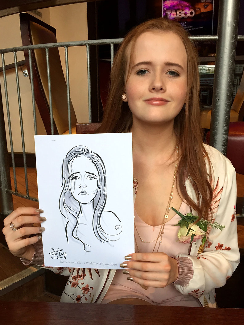 london wedding entertainment by caricaturist for hire
