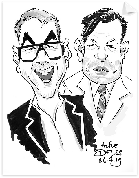 Wedding entertainment in north London with caricatures