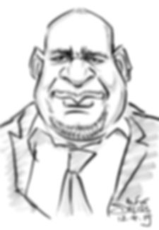 Corporate dinner guest caricature in London
