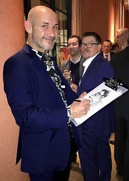 London Caricaturist & Corporate Party Entertainer Mr Sketchum