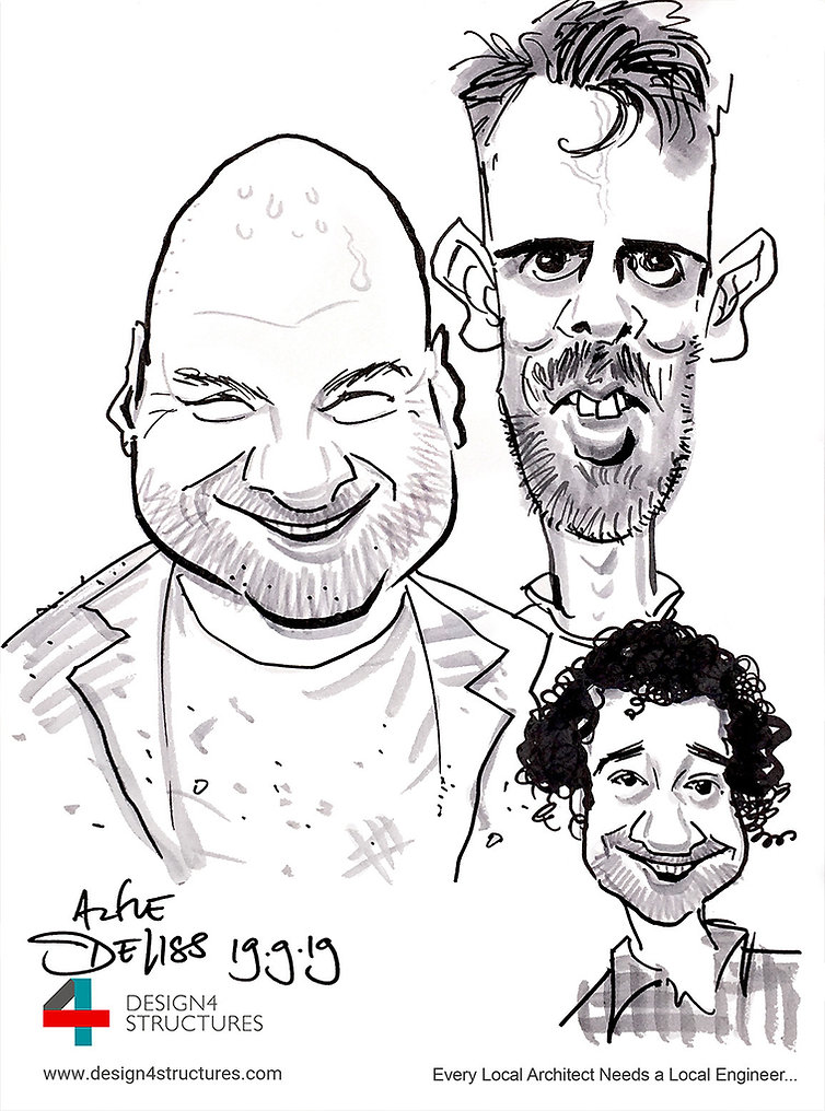 Corporate entertainment with party caricatures - Click to Zoom