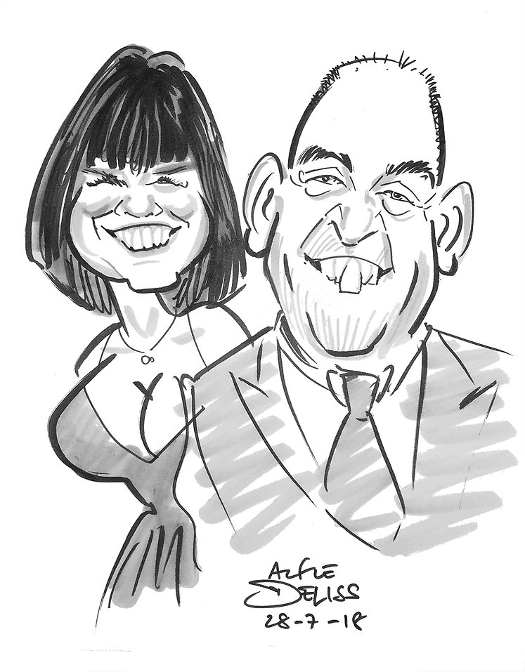 Wedding entertainment in Surrey by London caricaturist