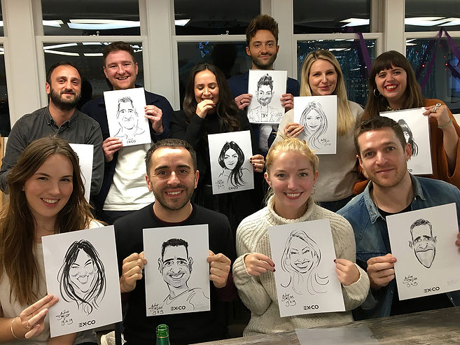 caricature entertainment at london office party