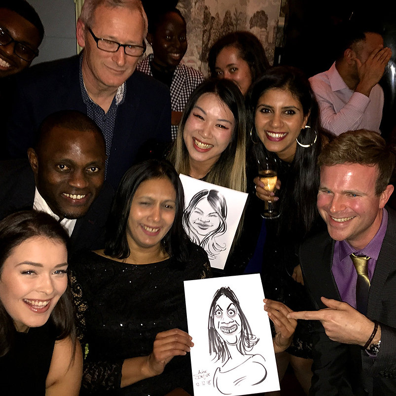 ChristmasXmas/NYE/New Years Eve corporate party entertainment with caricatures