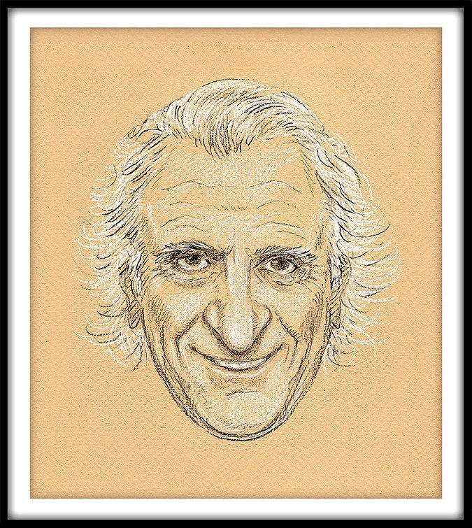 Chef Michel Roux Sr Portrait by Alfie Deliss