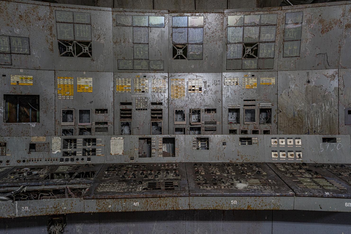 Salle de contrôle du réacteur numéro 4