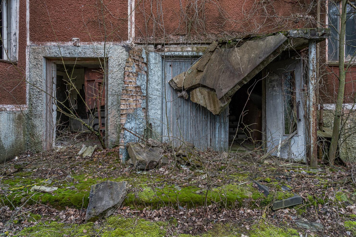 Entrée d'un immeuble d'habitations