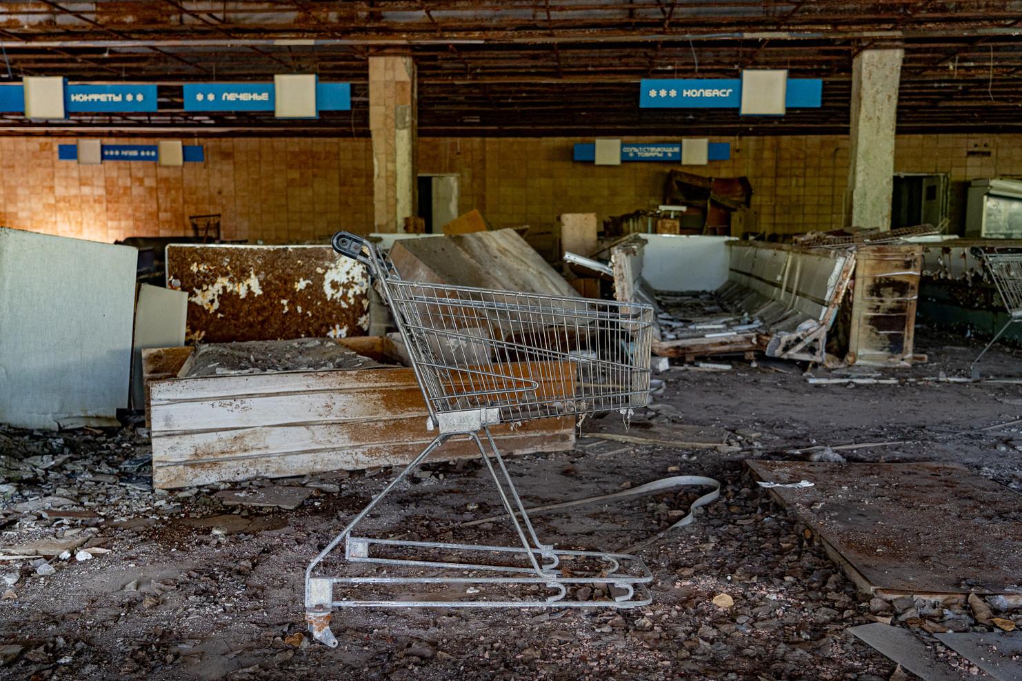 Supermarché, sur la place centrale