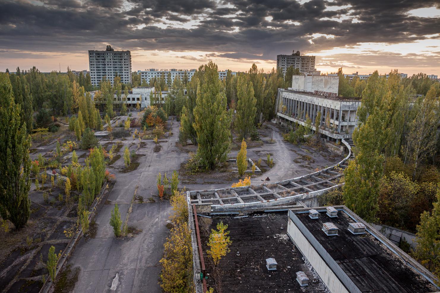 Vue de la place centrale de la ville