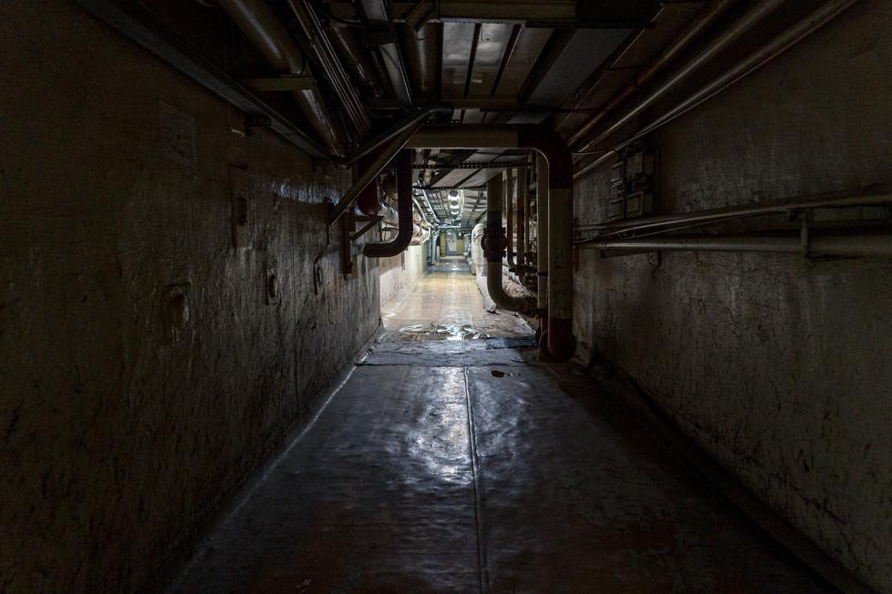 Couloir au coeur du sarcophage