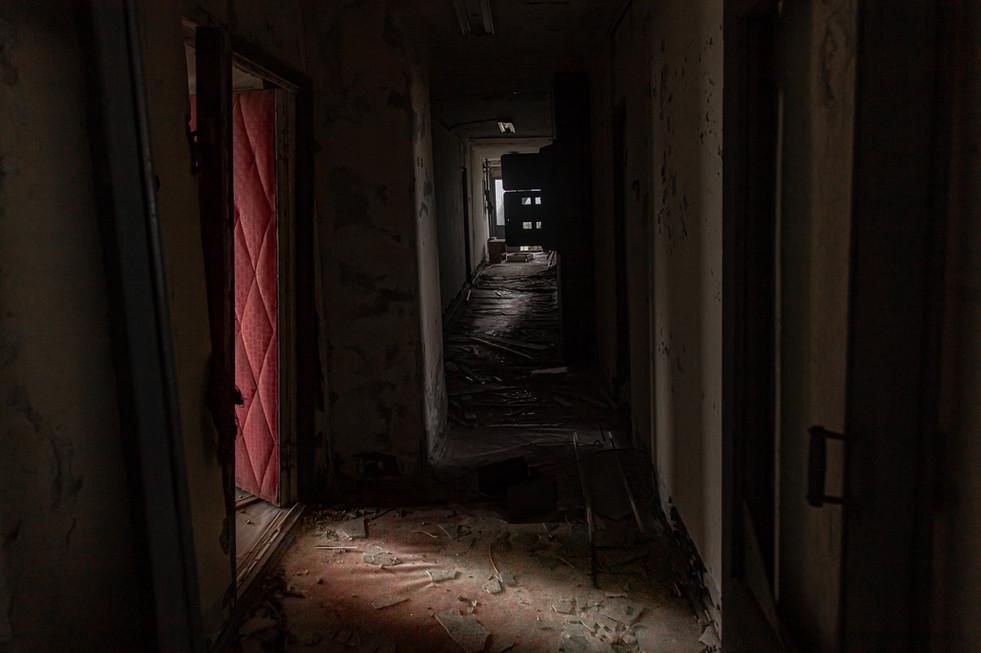 Immeuble d'habitations, couloir