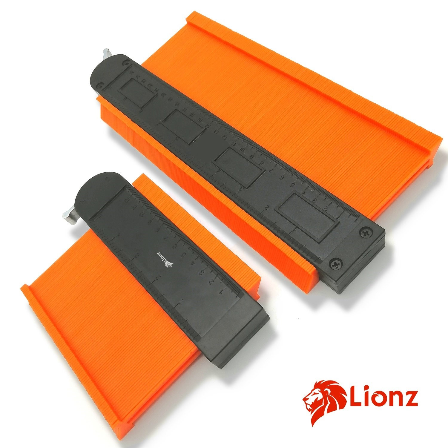"""Lionz Contour Gauge Duplicators with lock Wide 10/"""" /& 5/"""" Tool To Copy Odd Shapes"""