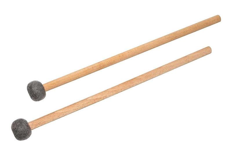 Paire de baguettes en feutre pour Tongue Drum