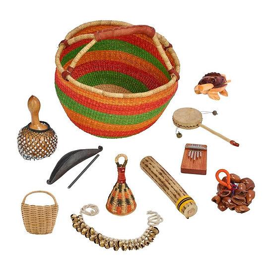 Panier ethnique petites percussions