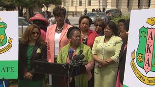 Congresswomen Gather In Support Of AU Sorority