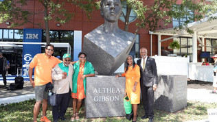 FAMU Great Gibson Honored with Statue at U.S. Open