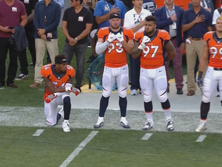 Another Player Takes A Knee During National Anthem