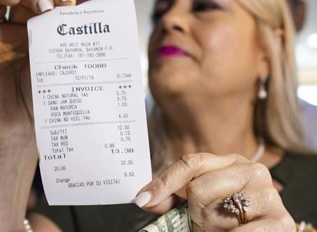 Restaurantes con la Taza de IVU Reducida