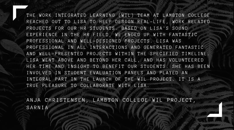 Anja Christensen, Lambton College