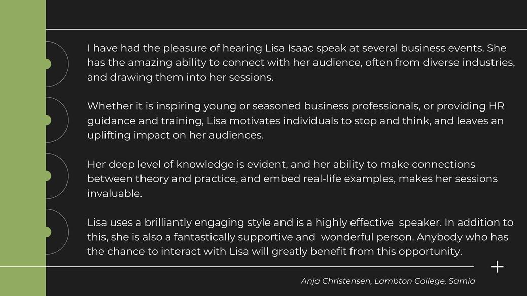 Anja Christenson, Lambton College