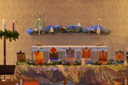 2016-December-Bishop Lee Visit-Advent Altar-1