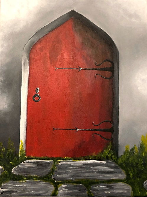 Antique Red Door