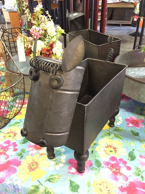 Mini Horse metal planter