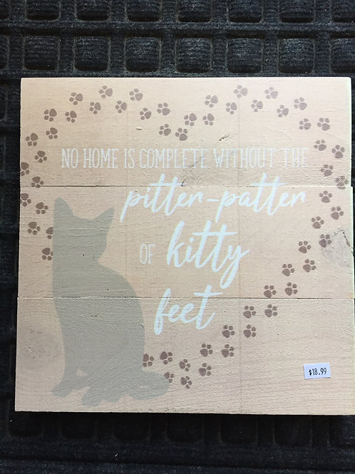 Pitter-Patter kitty sign