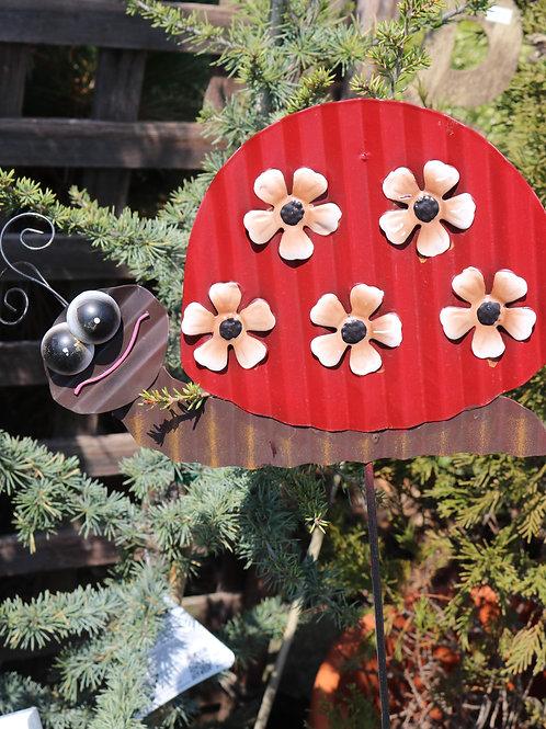 Ladybug yard stake
