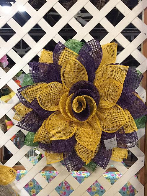 Purple & Gold burlap Wreath