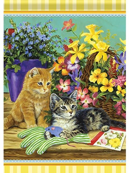 Kitty Gardeners Garden Flag