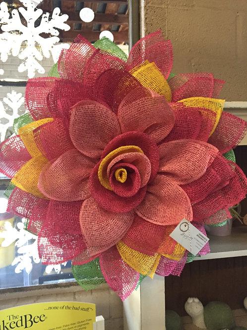 Coral flower wreath