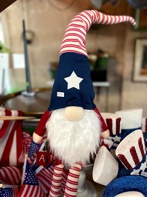 Patriotic Gnome with long legs