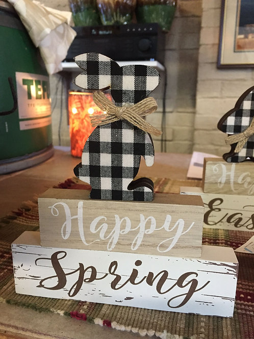 Happy Spring Bunny block