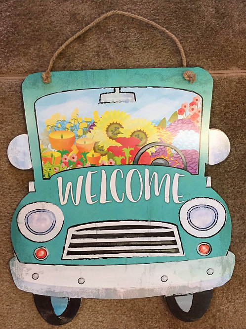 Welcome Truck Hanging Sign