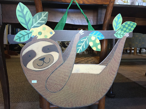 Wooden Sloth w/ hanger