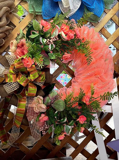Coral Geo wreath