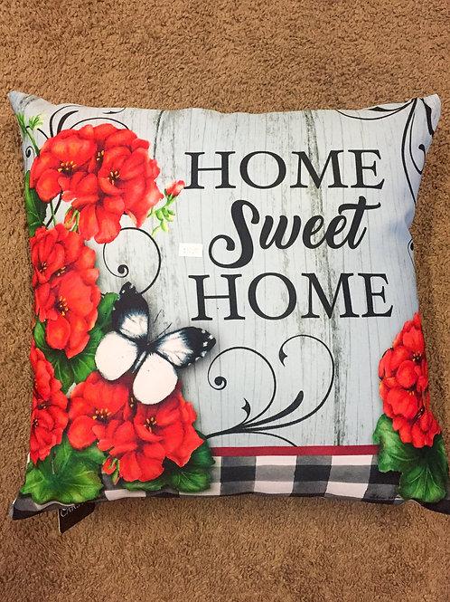 Garden themed pillow - Home Sweet Home