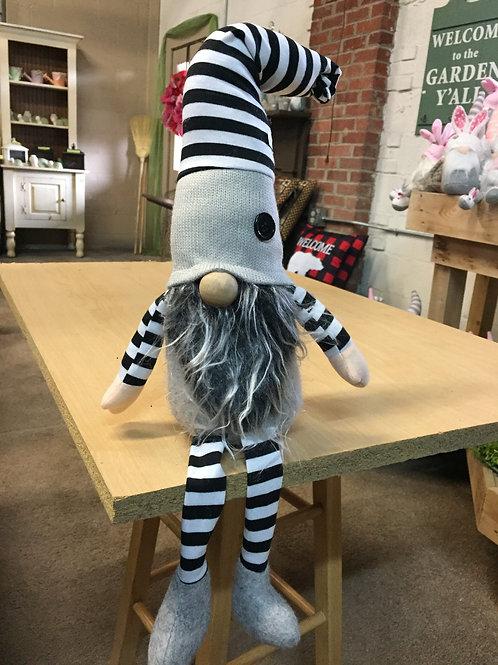 Black & White striped Gnome with legs