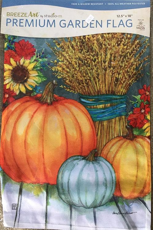 Pumpkins w/ Barley and Flowers