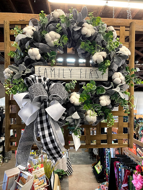Family first wreath
