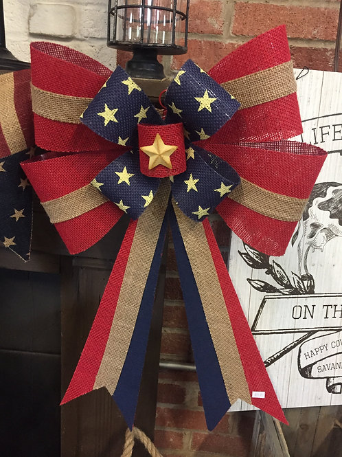 Extra Large Patriotic bow