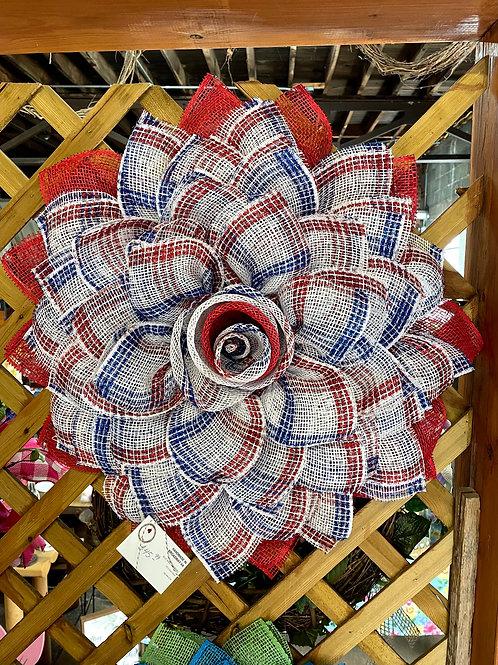 Americana sunflower wreath