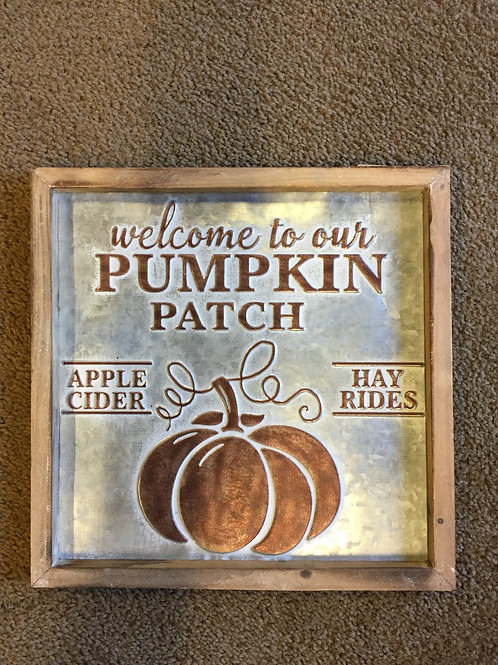 Welcome To Our Pumpkin Patch-sign